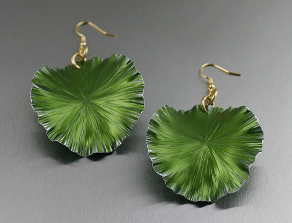 Lime-Anodized-Aluminum-Lily-Pad-Earrings-by-John-S-Brana.jpg