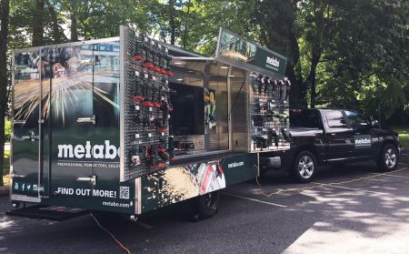 Metabo introduces its Mobile Safety Training/Job-site Event Trailer