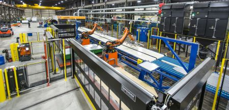 Machine builder extends blanking line capability with automated stacking
