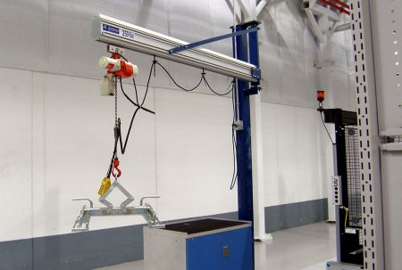 AL Systems Aluminum Rail Jib Cranes are lightweight and versatile